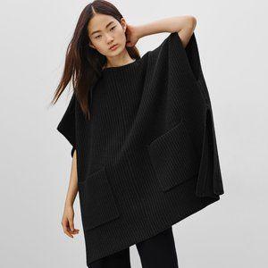 Wilfred Goddard Poncho Cape Wool Sweater Black